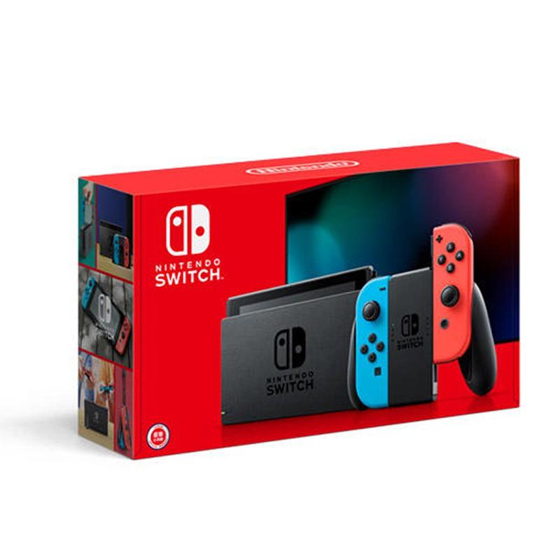 Nintendo Switch 主機 電池續航力加長 新款 新型號 Switch主機 電光紅藍色【員林雪風電玩】