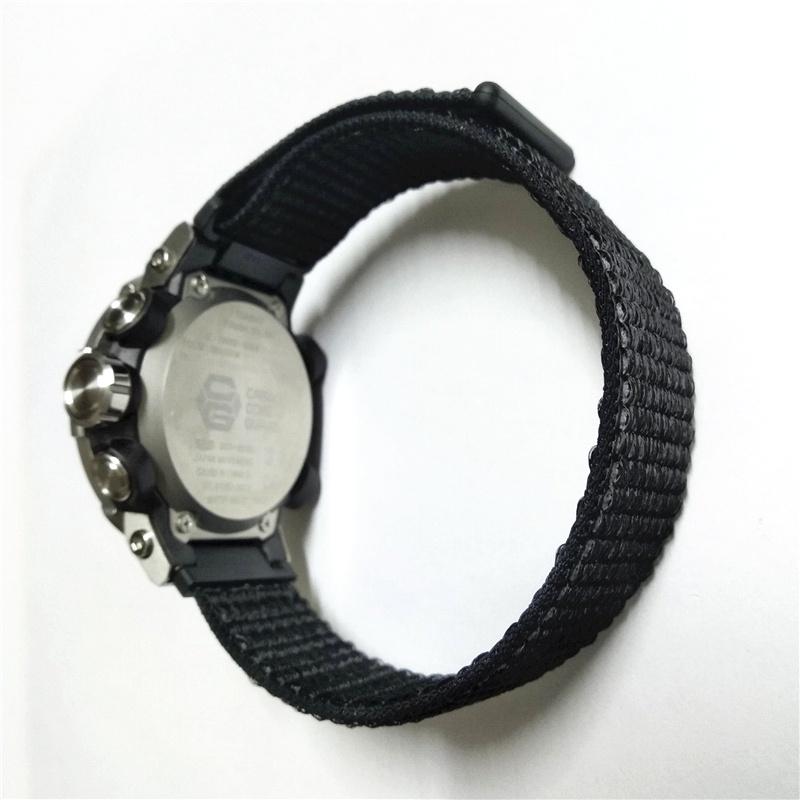 適配卡西歐gst-b200尼龍錶帶 卡西歐g-shock尼龍魔術貼運動錶帶