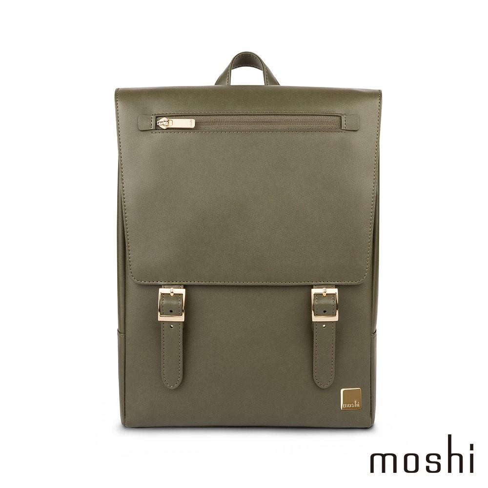 Moshi Helios Mini 時尚雙肩迷你後背包(都會遊獵系列,橄欖綠)13吋電腦包 筆電包