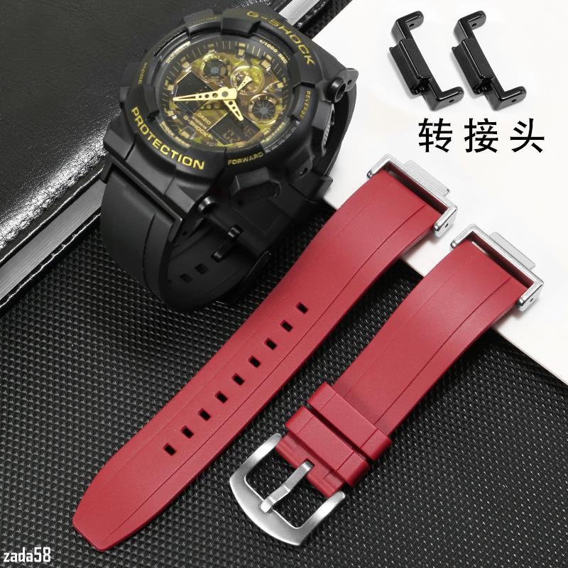優選錶帶【現貨】代用卡西歐G-SHOCK橡膠手表帶GA110 120 400 700 2100改裝配件DSA