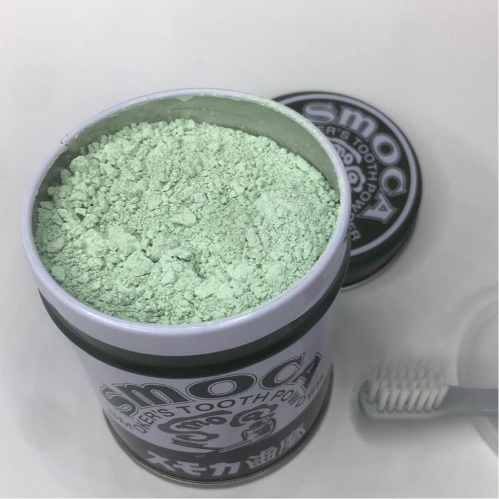 日本進口SMOCA洗牙粉潔牙粉美白牙齒去除牙漬牙結石煙茶漬 綠155g