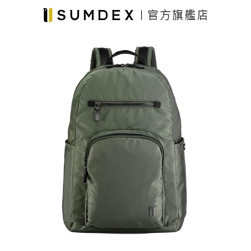 Sumdex|都會標準後背包 NON-757TY 綠色 官方旗艦店