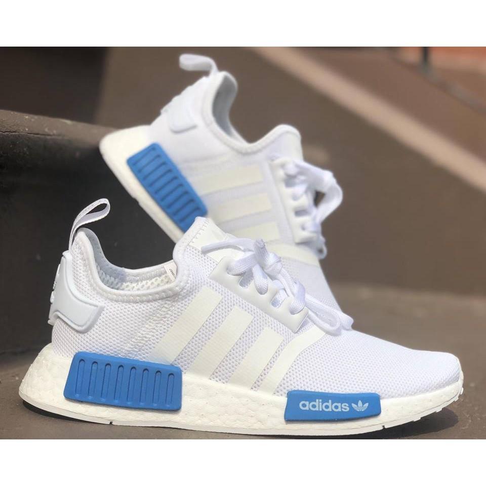 33df73b7954c8 ADIDAS NMD R1 白藍編織網布AQ1785 女鞋