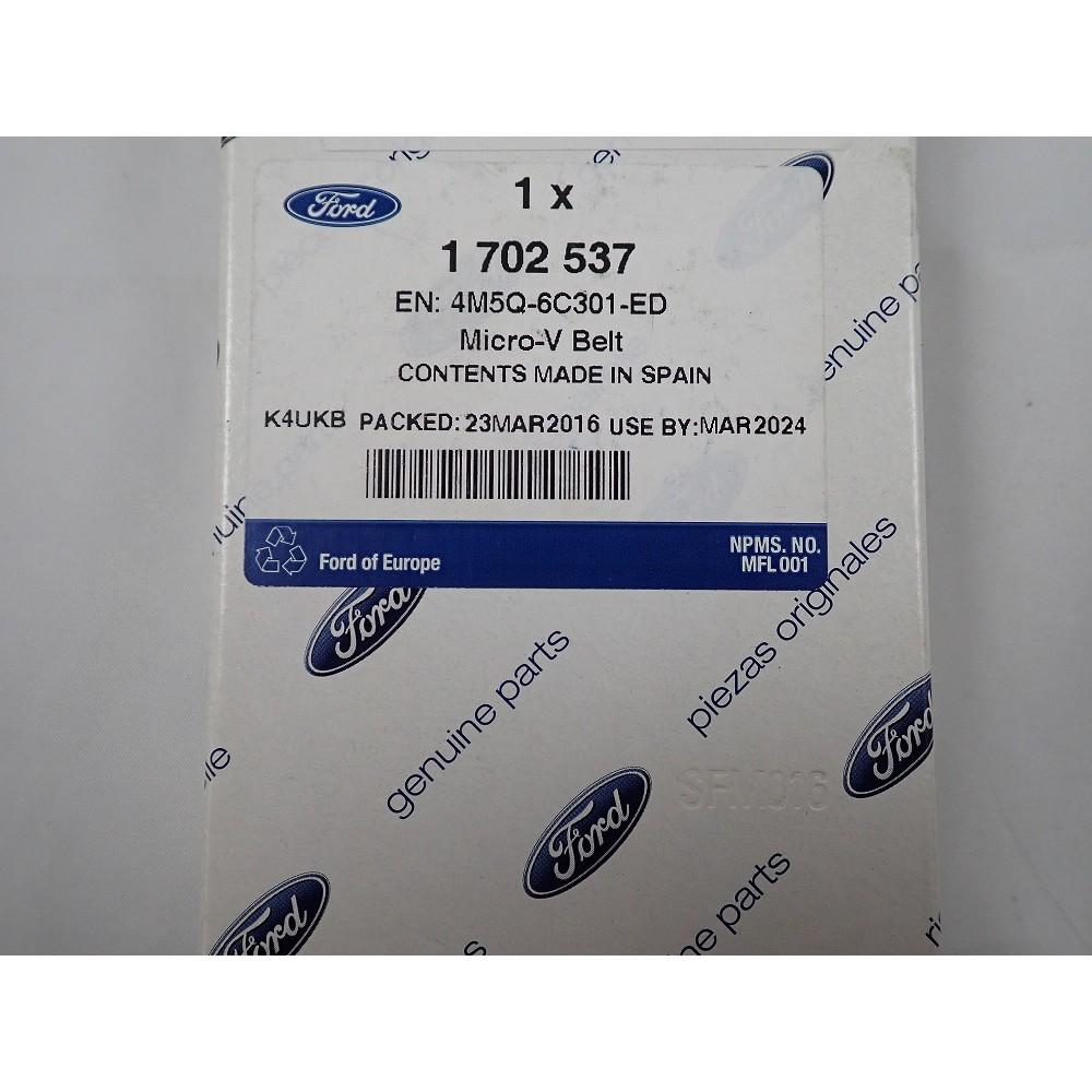 福特 原廠皮帶 4M5Q6C301ED 適用於 FOCUS MK2 柴油車 2.0CC 正廠外皮帶 整體皮帶 發電機皮帶