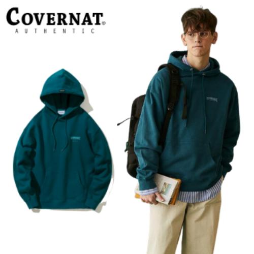 [COVERNAT] 21春夏 Drawing layout logo 連帽上衣(藍綠色)