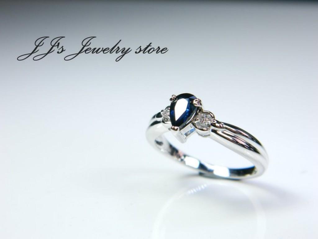 【J.Jewelry Store】K金 藍寶 線戒 火光閃亮 生日禮 情人節 SR1310187 鋐錡珠寶