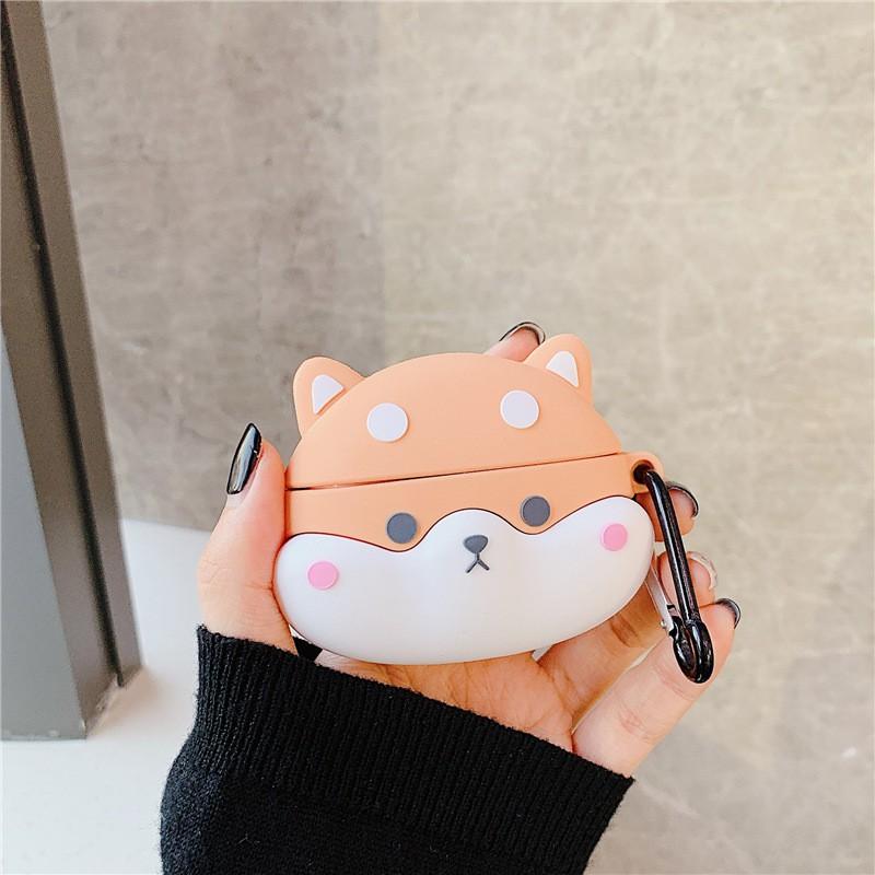 ☛現貨☚ 可愛柴犬狗狗 Airpods Pro保護套  柯基狗狗 適用于蘋果無線藍牙耳機 Airpods1/2代通用