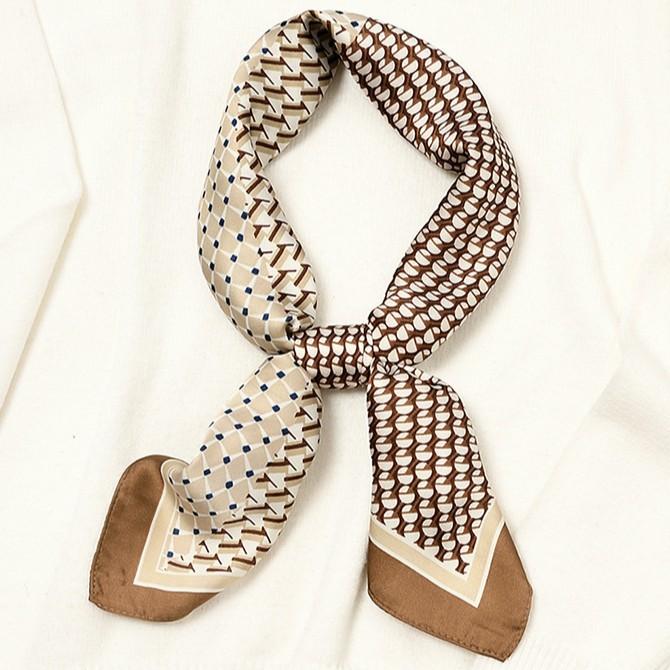 石原里美同款絲巾小方巾法式幾何圓點領巾髮帶