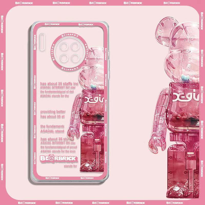 台灣熱銷潮牌半邊暴力熊華為MATE30手機殼透明MATE30PRO軟殼防摔全包5G潮優質商品