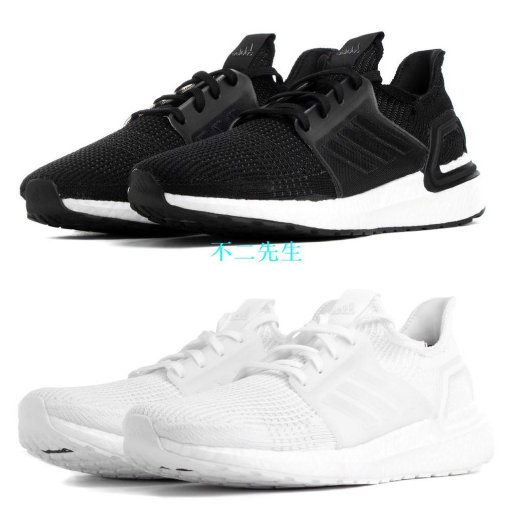 潮ISNEAKERS Adidas originals ultra boost 19 休閒鞋 黑白 全白兩色 G5400