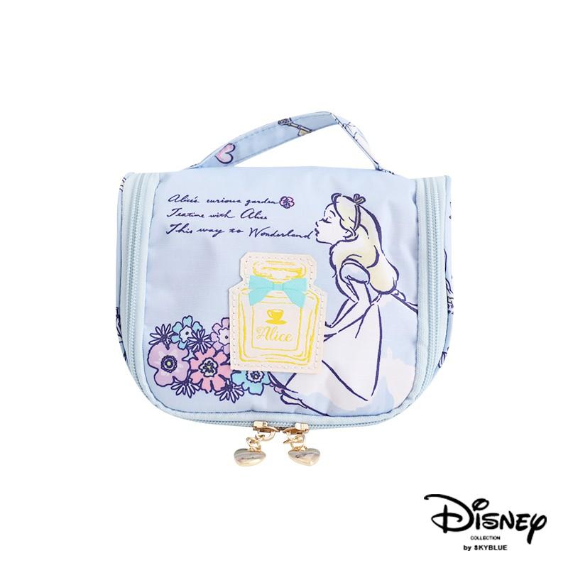 天藍小舖-迪士尼系列愛麗絲點點盥洗化妝收納小包-單1款-A09090372