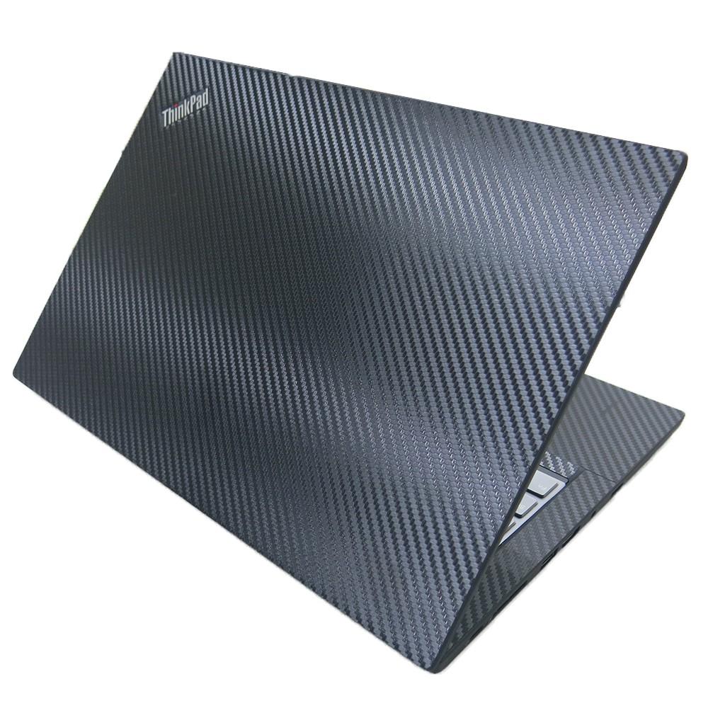 【Ezstick】Lenovo ThinkPad P43s 黑色立體紋機身貼 (含上蓋貼、鍵盤週圍貼、底部貼)DIY包膜