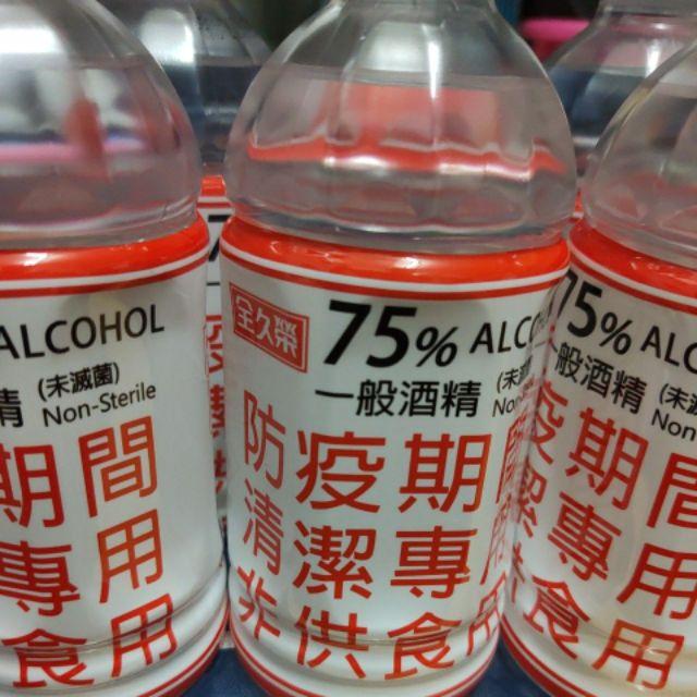 現貨 台糖 全久榮 75%酒精350ml 台酒75%300ml 清潔用可噴手  玻璃罐每單限購3罐 保特瓶最多9罐