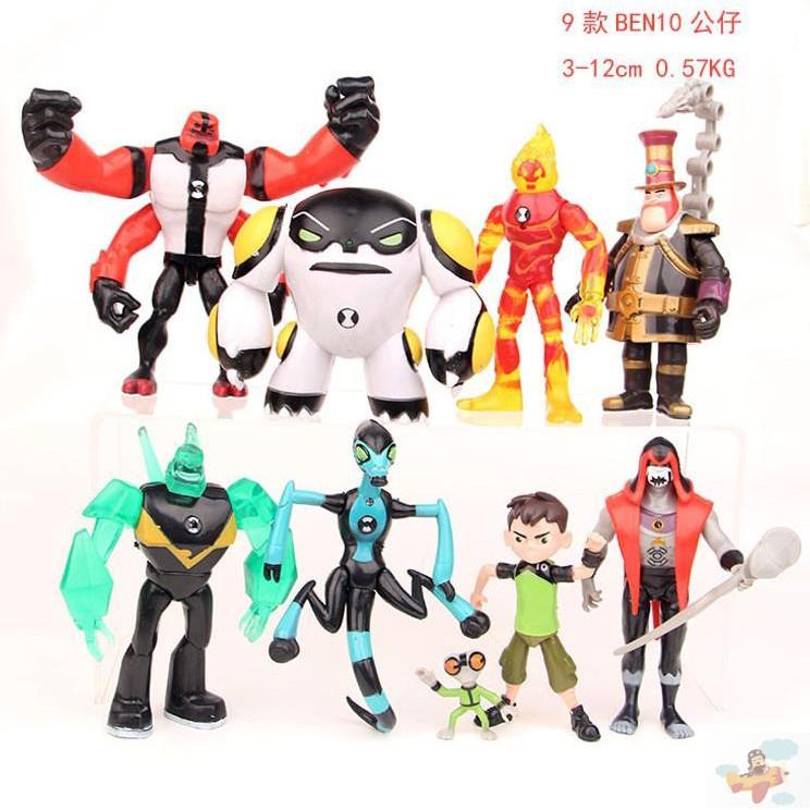 。少年駭客BEN10超能獸田小班火焰人手辦人偶外星英雄玩具公仔擺
