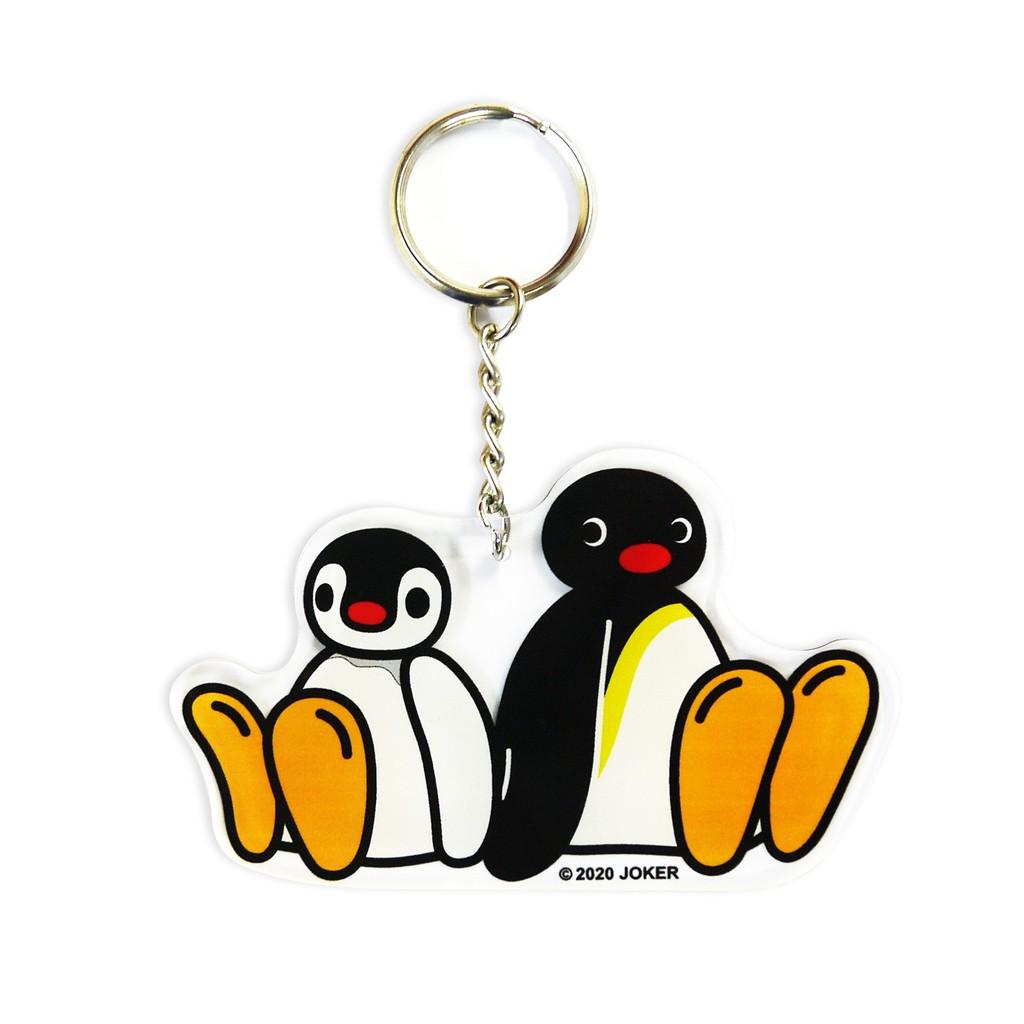【企鵝家族】壓克力吊飾-背靠背