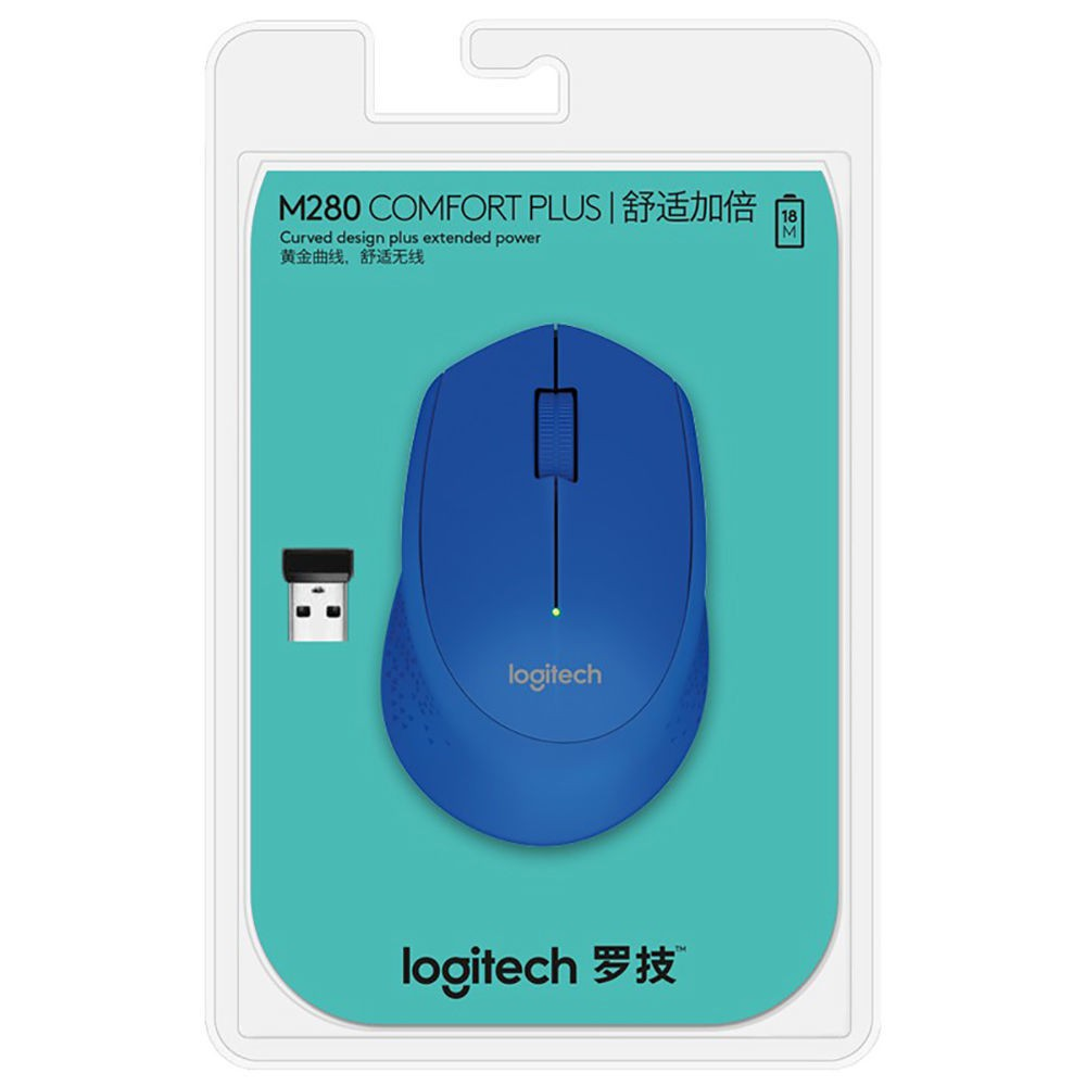 WXSB-羅技(Logitech)M280無線鼠標商務辦公家用鼠標  無線2.4G接收器