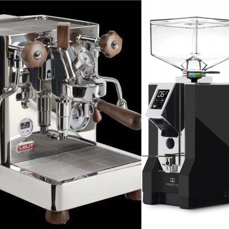 LELIT PL162T義式咖啡機+Eureka Mignon Specialita 110V 義式定時磨豆機 優惠組合