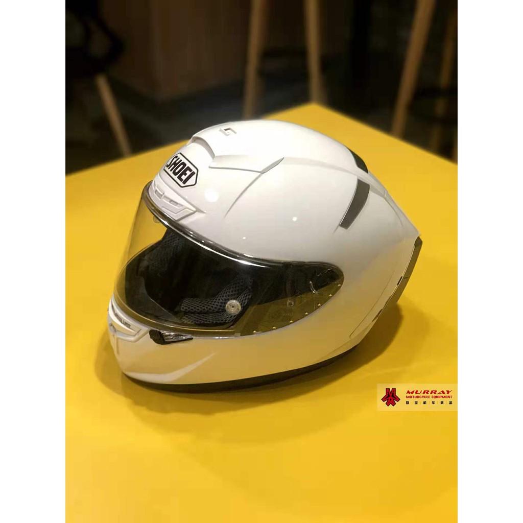 休一 shoei x14頭盔x14純白全盔安全帽 頭盔素白色全盔 男女通用四季安全帽 全罩安全帽