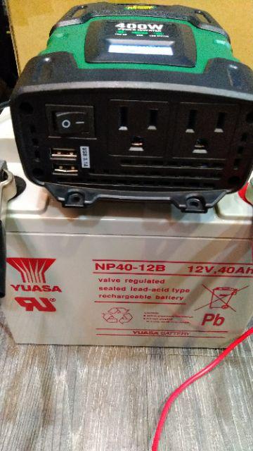 露營二手深循環電池 12V40AH 工業電扇吹一整天也不發熱