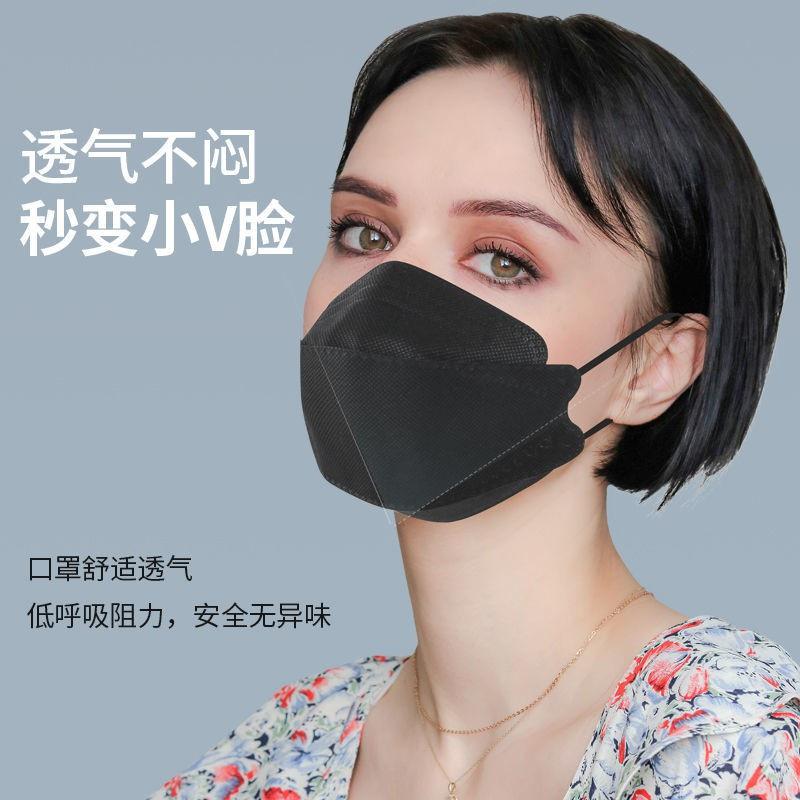 ♥️防疫必備😷 白色女性保護型一次性 韓式包裝 kf94 黑色 獨立時尚 韓版口罩 非醫療級