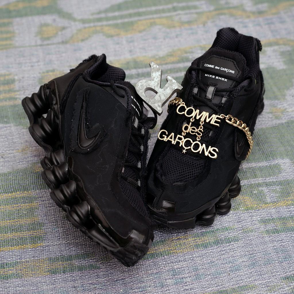 R'代購Comme des Garçons川久保玲 Nike Shox TL CDG黑金屬鏈彈簧 CJ0546-001
