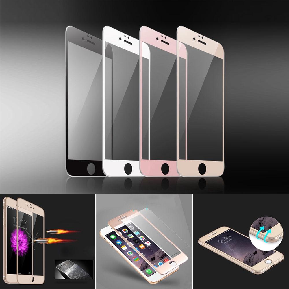 [適用於]iPhone7/6s鋼化膜 蘋果6plus全屏3D覆蓋玫瑰金7Plus 8p手機彩色膜 保護膜貼膜