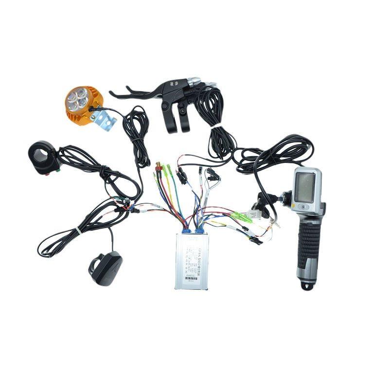 代駕電動車控制器轉把加速器套裝LED大燈36v48v鋰電控制器套裝 Ztrw