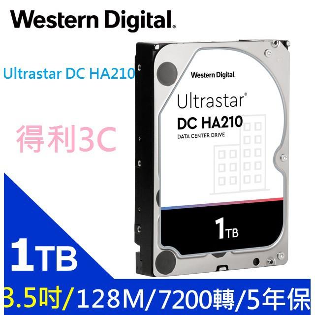 Western Digital WD 威騰 Ultrastar DC HA210 1TB 3.5吋 企業級硬碟 1T