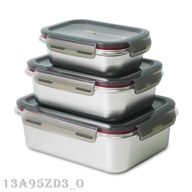 不鏽鋼保鮮盒三件套 SP-2106