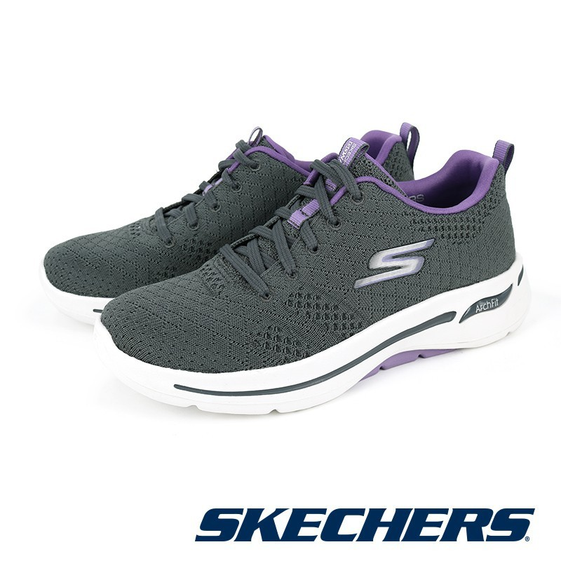 【SKECHERS】健走系列 GOWALK ARCH FIT - 124403GYLV-灰紫 女-原價3090元