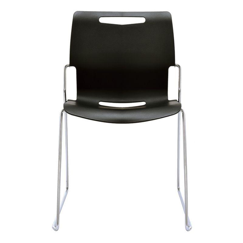 2組🙋免運  好市多 Musical Chairs Cache 可堆疊辦公椅 - 黑