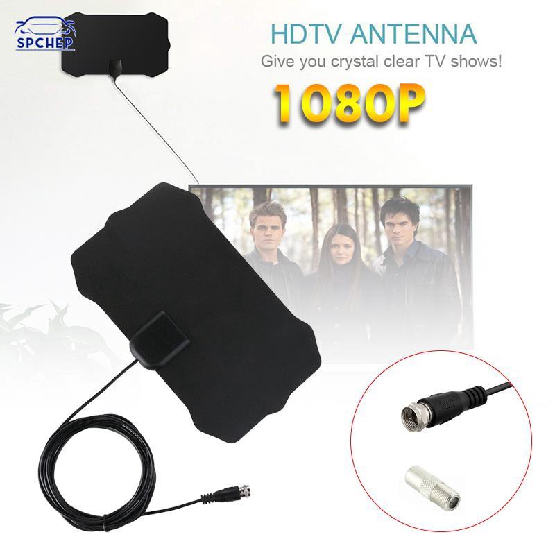CHEP 50英里範圍數字4K電視HDTV天線50英里範圍數字電視HDTV天線信號超薄F端口/電視端口