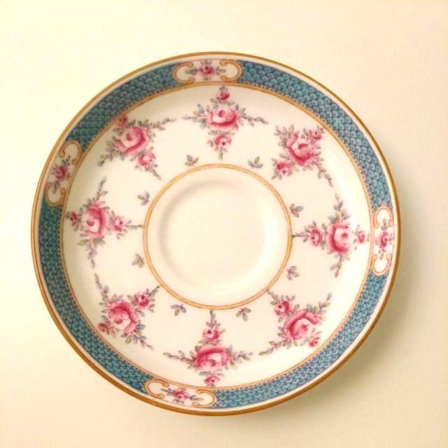 歐瓷天堂~英國製骨瓷明頓Minton手繪玫瑰花盤