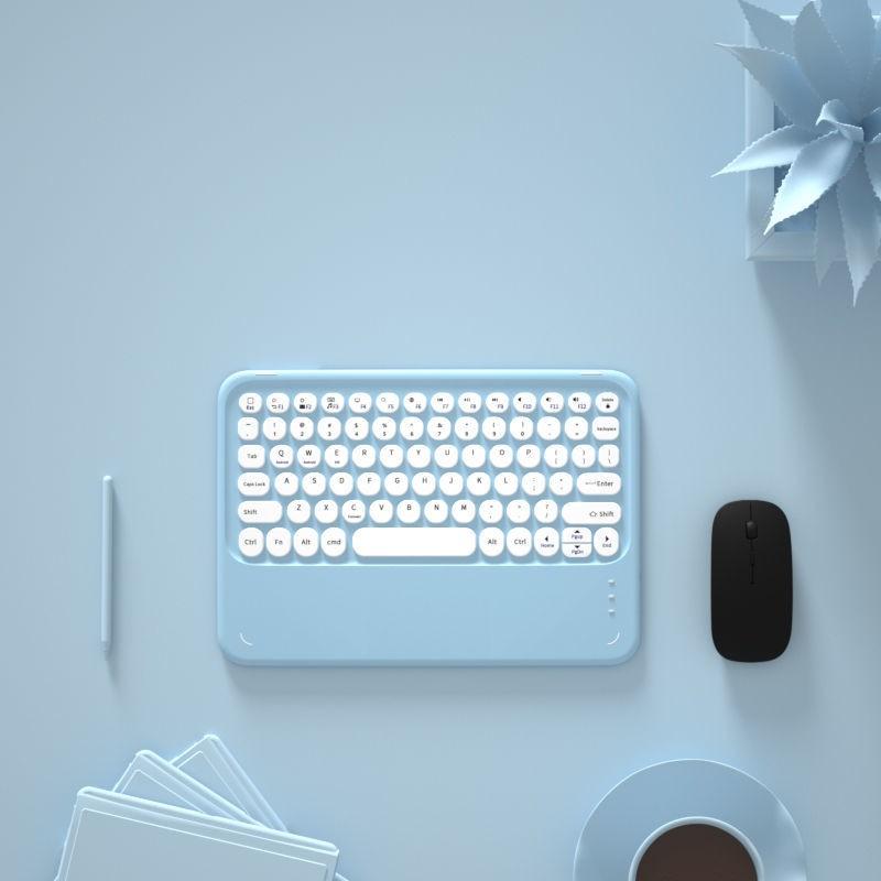 雲谷科技 無線 藍牙 鍵盤 蘋果ipad ipad無線藍牙鍵盤ios手機pro通用華為m6安卓平板迷你便攜少女卡通