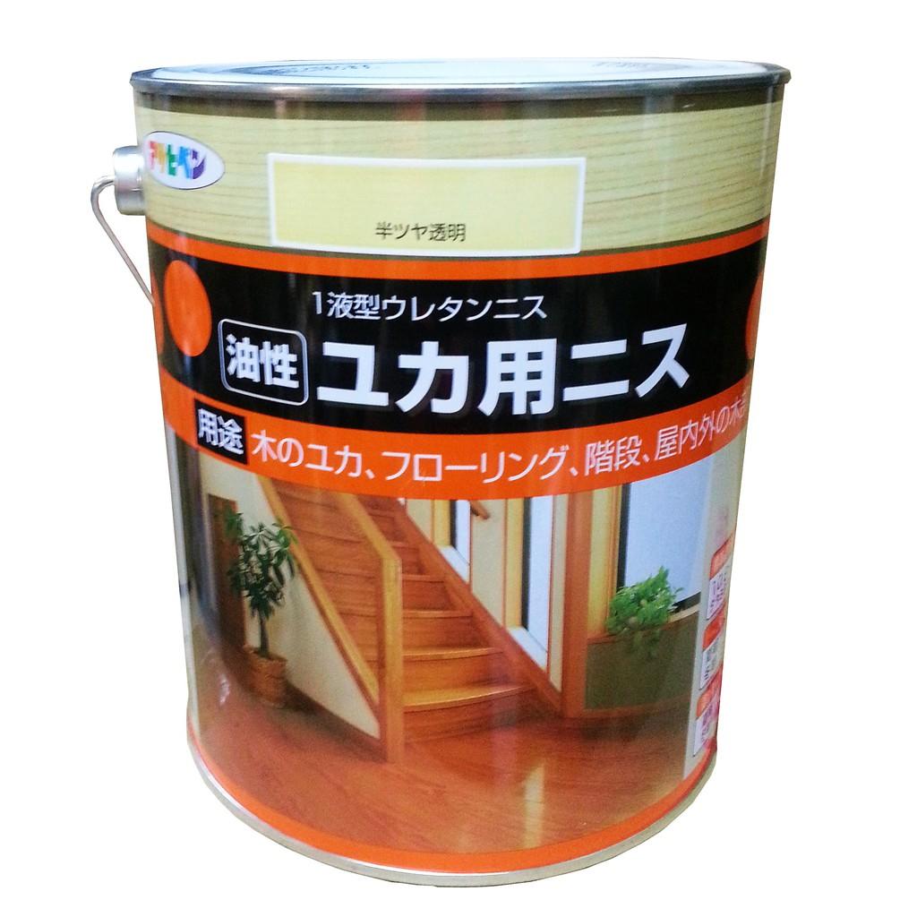 日本Asahipen木製地板耐磨清漆0.7L 1.6L