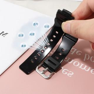 💕【現貨】💕✖防水硅膠手表帶女適配卡西歐BA-110 111 112 120粉白藍色改裝表鏈1