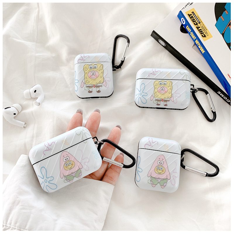【新款#熱銷】海綿寶寶airpods pro保護套2/3代適用創意蘋果無線藍牙硅膠耳機殼