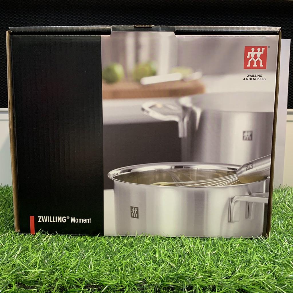 ZWILLING 德國雙人牌 不鏽鋼雙耳淺湯鍋20cm+玻璃鍋蓋 moment系列 -好buy家