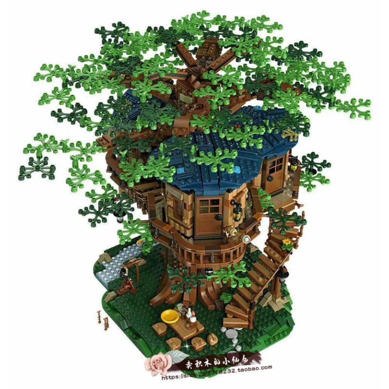 兼容LEGO樂高 21318 IDEAS 創意系列 樂高叢林木屋 樹屋積木玩具