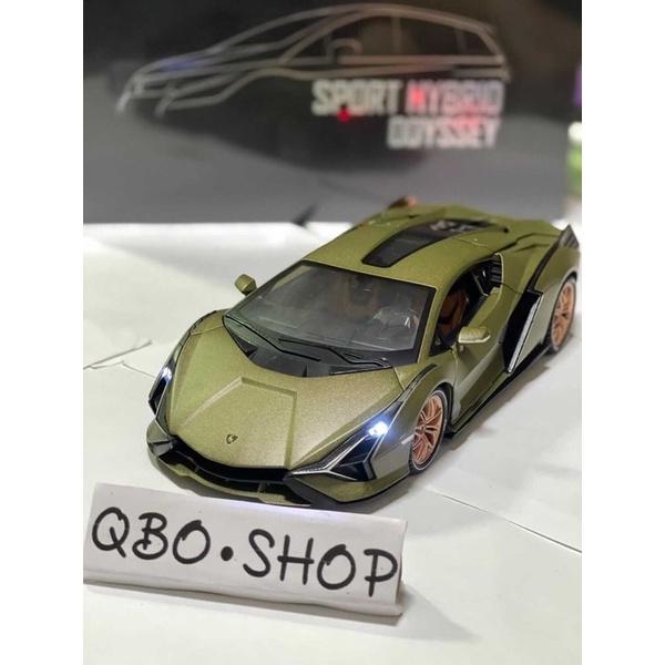 【大台全開帶聲光回力】1:18 Lamborghini Sian FKP 37藍寶堅尼 閃電 模型車 模型