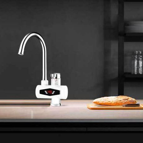 110V電熱水龍頭 110V即熱式電熱水器 電熱水龍頭廚房速熱快速加熱加熱水龍頭 臺灣用熱水龍頭