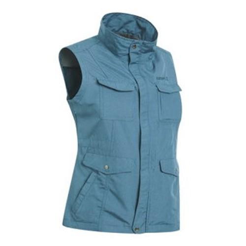 瑞多仕 DA2391 女多口袋背心(蓋袋款) 藍麻灰色 登山 露營 釣魚 戶外休閒 RATOPS