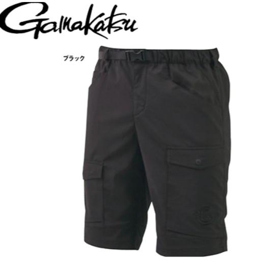 【獵漁人】GAMAKATSU Luxxe 吸水速乾黑色短褲 彈性好 多口袋 LE-4003