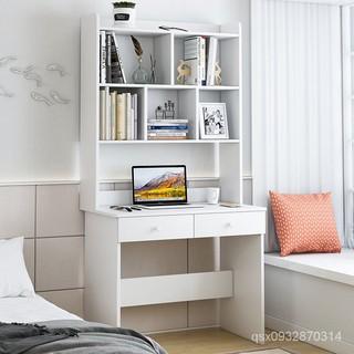 小戶型電腦桌書桌書架一體80cm長60寬40窄白色桌子學生學習桌寫字電腦桌#電競桌#書桌#書架#書桌書架組合#寫字桌 南投縣
