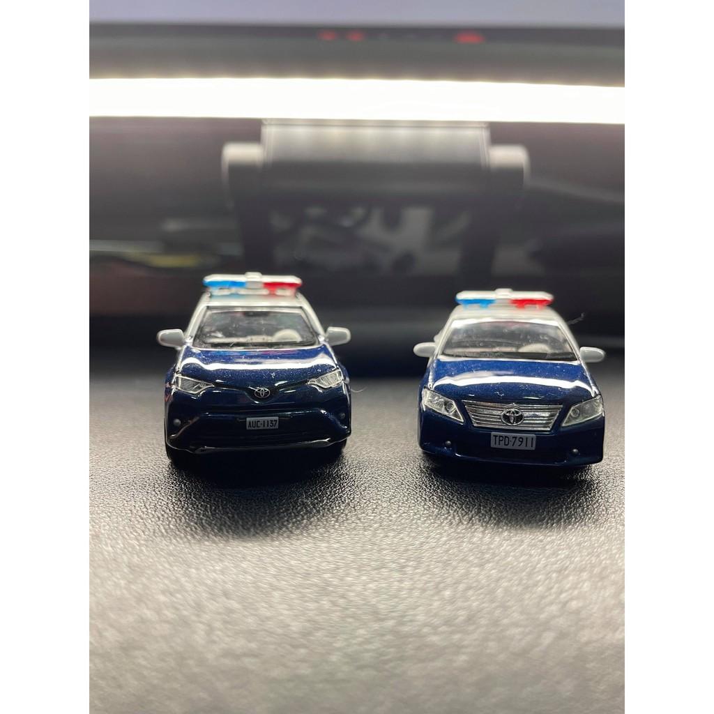 TINY 台灣 警察車模型 Toyota RAV4 Camry 警車 台灣 分局 模型 1:64