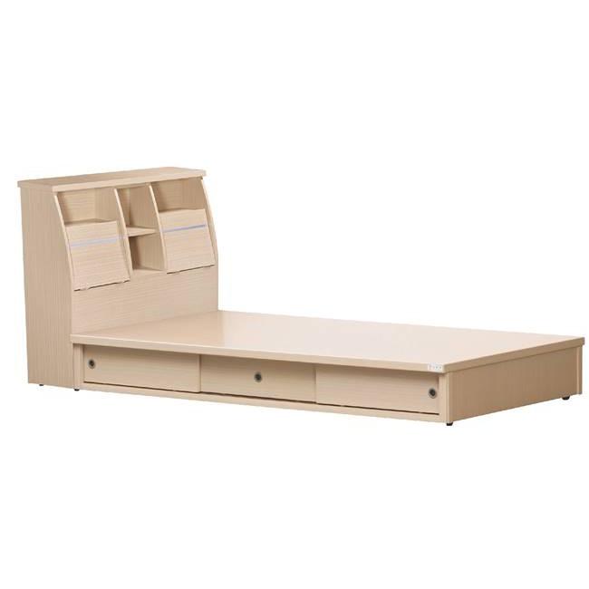 【EB530-502】 優質(四面處理)床底5尺(單面)雙拉門床底
