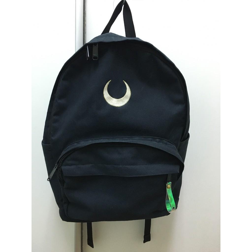 二手/spao/美少女戰士聯名款/後背包/學生包包/韓國包包/黑色