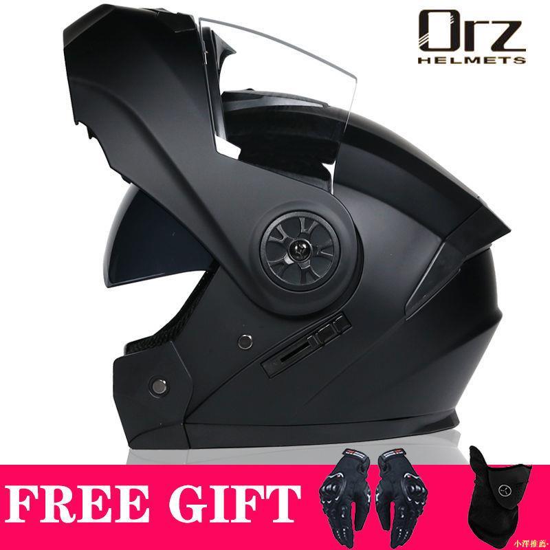 【機車安全帽】·Orz電動電瓶摩托車頭盔男女士全盔四季揭面盔藍牙機車夏季安全帽