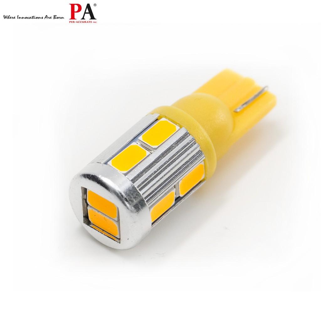 【PA LED】T10 T15 W5W 10晶 5630 SMD LED 黃光 橘黃光 小燈 方向燈 定位燈