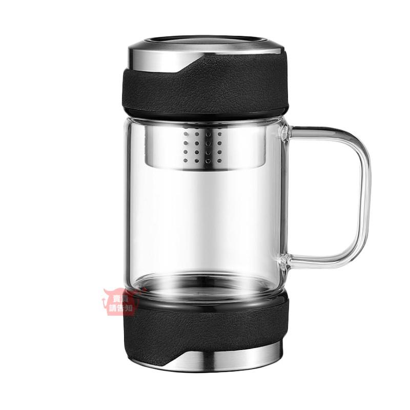 不鏽鋼蓋帶茶漏350ML玻璃杯 不鏽鋼濾網耐熱玻璃茶杯 玻璃杯 茶杯 環保杯 不銹鋼 304 316附發票【賣貴請告知】